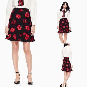🆕 Kate Spade crepe ruffle skirt